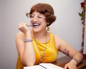 Galia eats pens!